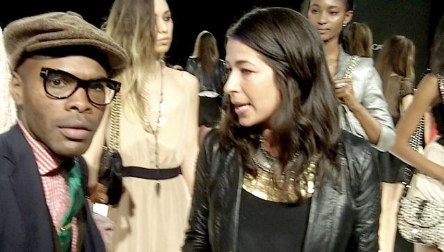 Celebrity stylist: Kino with designer, Rebecca Minkoff